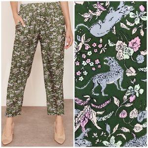 NEW J. Crew Collection silk pants tiger print